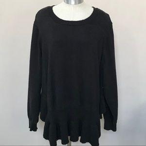 🛍 5 for $25 ELOQUII Peplum Hem Sweater 26/28